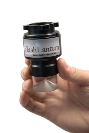 FlashLantern held by hand