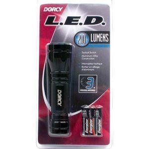 Dorcy 200 Lumen flashlight in package